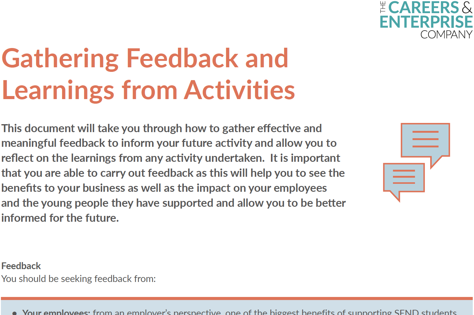 Gathering Feedback and Learnings from Activities