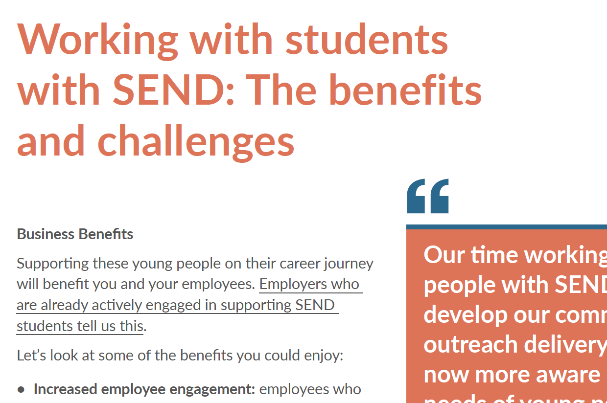Working with students with SEND: The benefits and challenges
