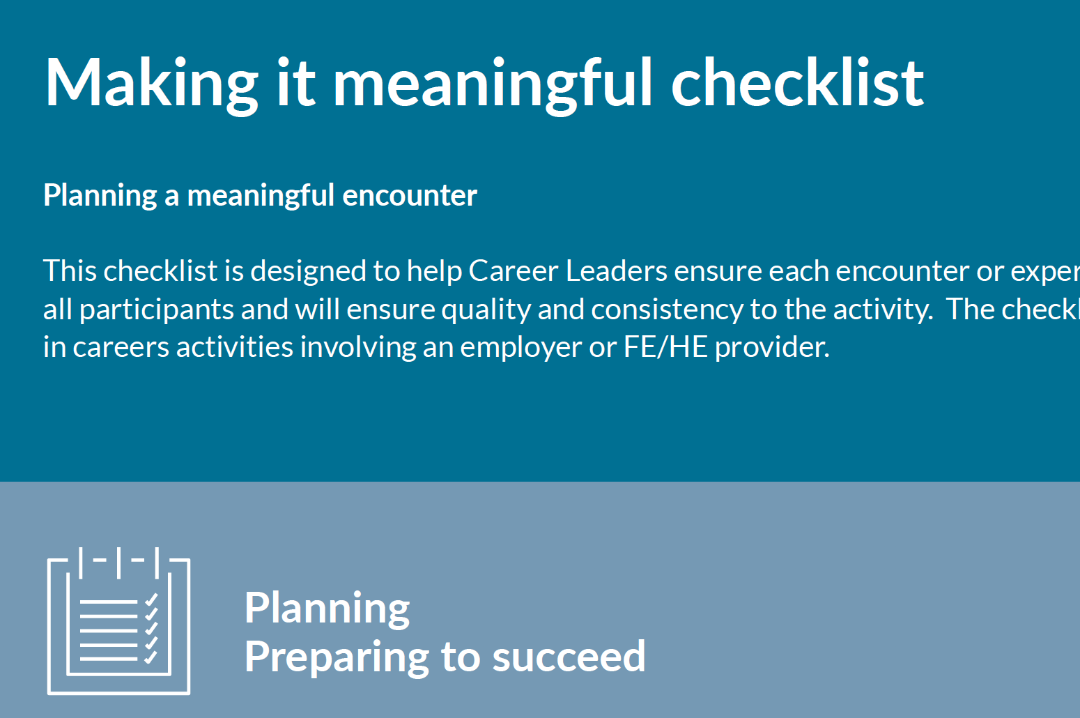 Make it meaningful checklist